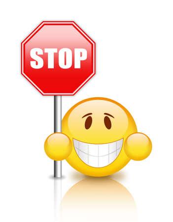 prohibido: Se�al de stop Foto de archivo