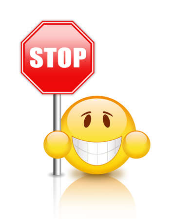 admittance: Stop sign Stock Photo