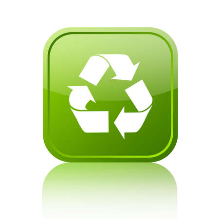 Recycled green button Stock Photo - 13310784