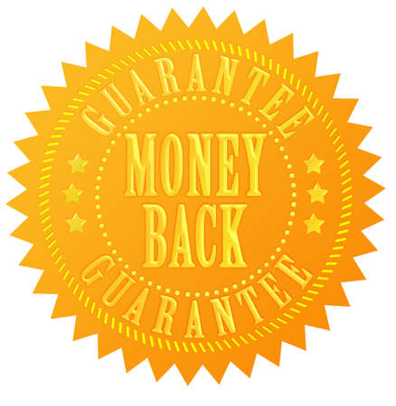 Money back guarantee gold seal Stock Photo - 13310825