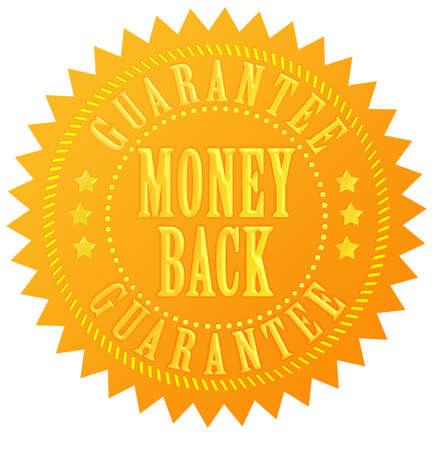 Money back guarantee gold seal Stock Photo - 13310825