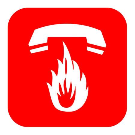 emergencia: Vector de emergencia contra incendios signo