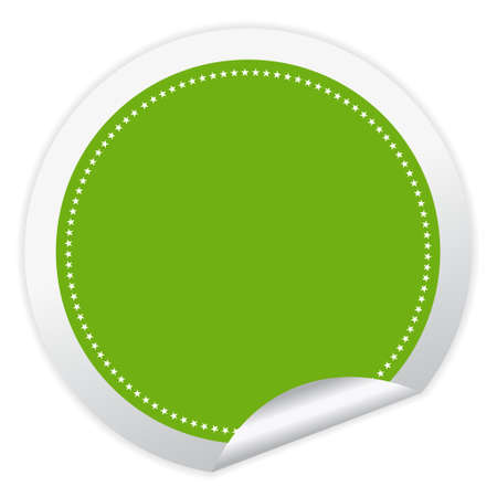 it is isolated: Vector blank green sticker