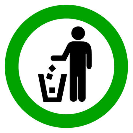 don't: Keep clean, no littering vector sign Illustration