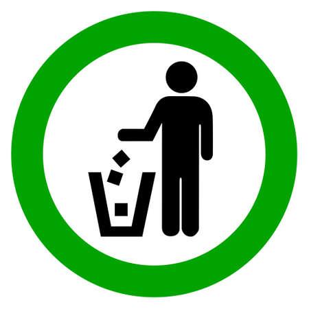 botar basura: Mantenga la limpieza, no hay signo vector de basura
