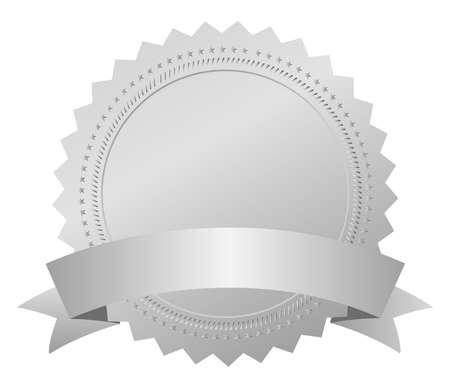 silver medal: Vector silver award medal