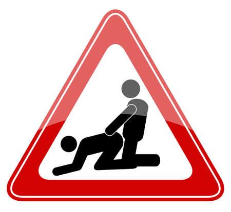 sex: Geen seks op het strand, vector illustratie
