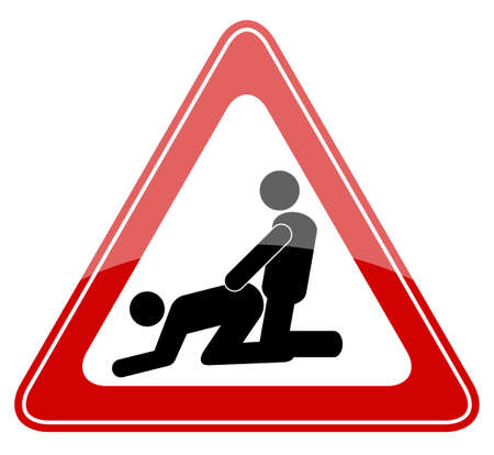 sexuales: Nada de sexo en la playa, ilustración vectorial Vectores