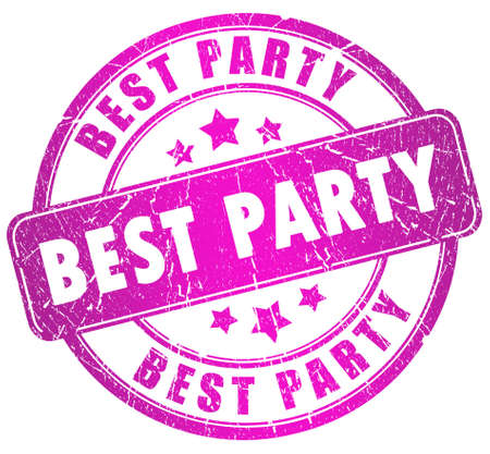 entertainment graphics: Best party stamp