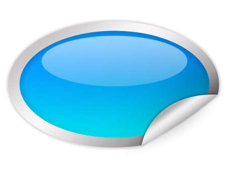 post it note: Oval glass icon Stock Photo