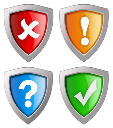 Security icons collection isolated on white photo