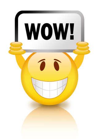 wow: Smiley con el signo de wow