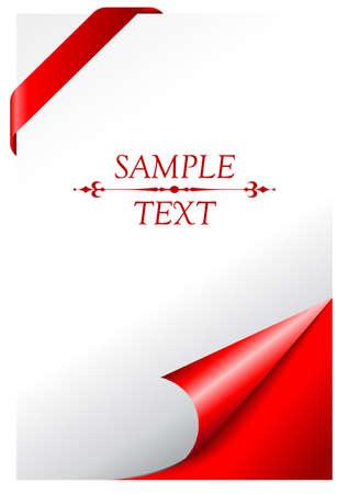 copertina libro antico: Vector pagina di copertina con angolo arricciato