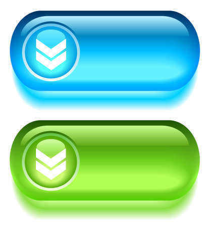 glassy: download glass buttons Illustration