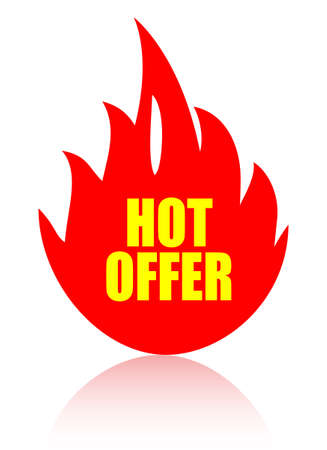 Hot offer icon Vector