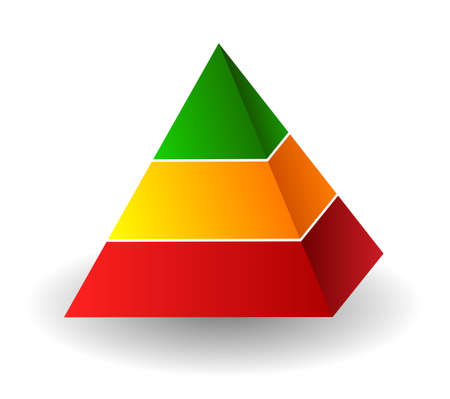 pyramid illustration Vector