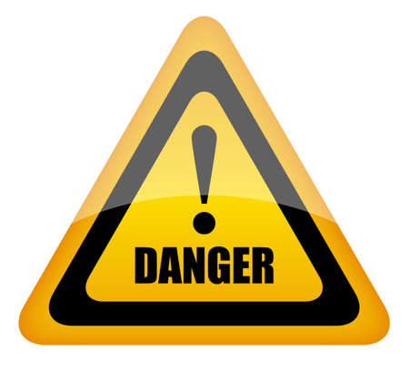 danger: Vector danger sign