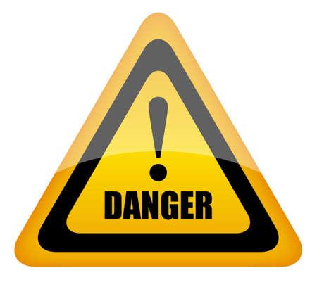 fouten: Vector gevaar teken Stock Illustratie