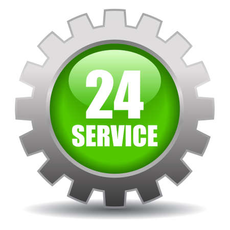 support center: 24 hour service icon