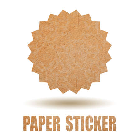 Blank paper sticker, add your text photo
