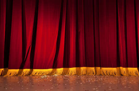 staging: Red curtains
