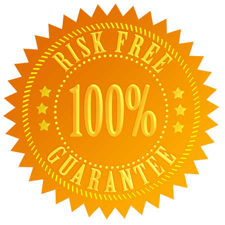 Risk free guarantee icon photo