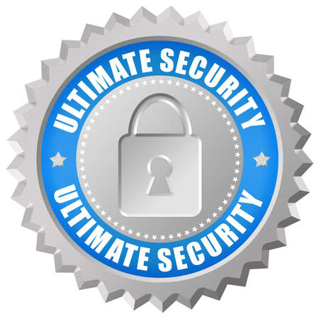 ultimate: Ultimate security icon Stock Photo