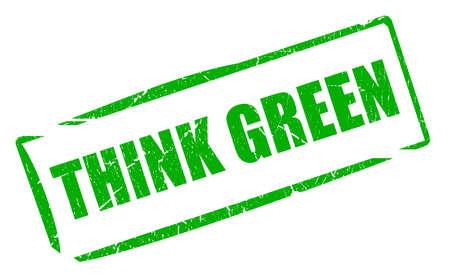Think green stamp photo