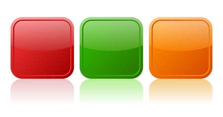 cuadrados: Botones de Vector conjunto Vectores