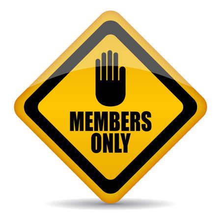 Alleen leden kunnen vector teken