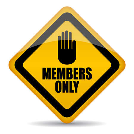 only members: Members only vector sign