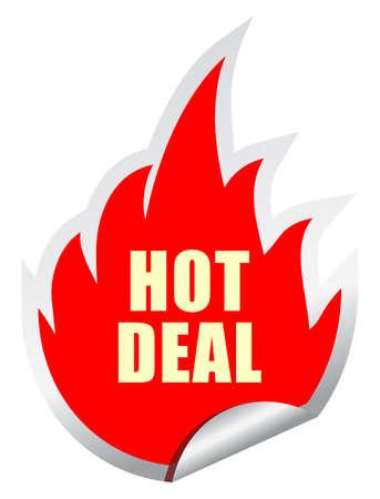 deals: Hot deal vector sticker