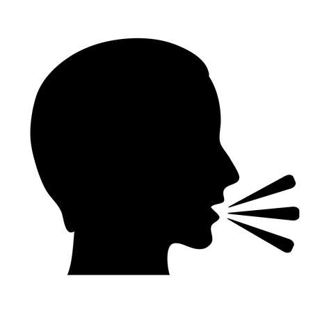 talking: Parler illustration vectorielle symbole,