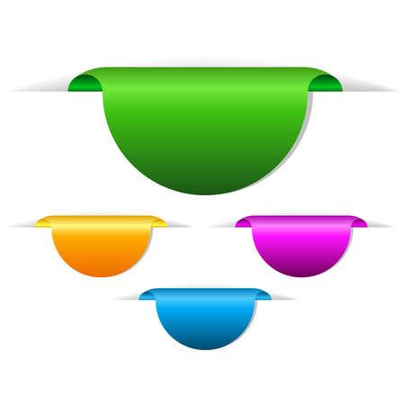 Lege vector labels illustratie Vector Illustratie