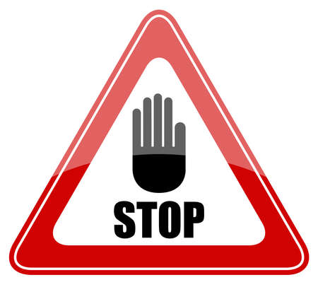 zones: Stop vector sign Illustration