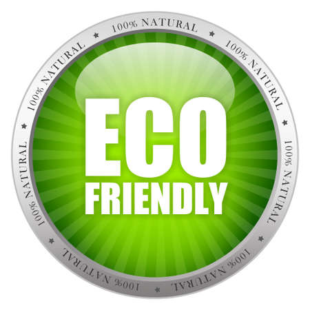 Eco friendly glass icon photo