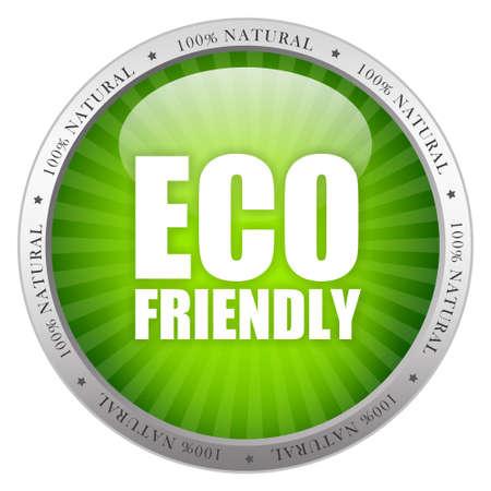 Eco friendly glass icon photo