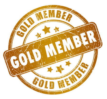 Gold member stamp Stock Photo - 14243588