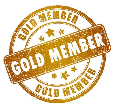 Gold member stamp Stock Photo - 14243588