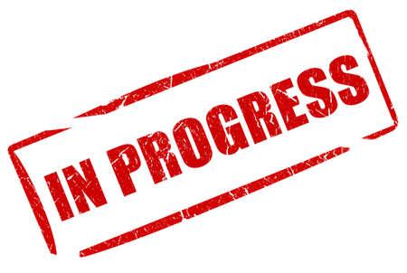 In Fortschritte Stempel Standard-Bild