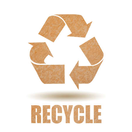 Recycle paper symbol photo