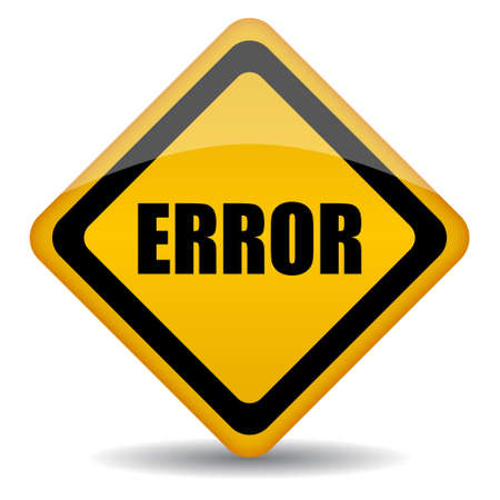 error sign illustration Vector