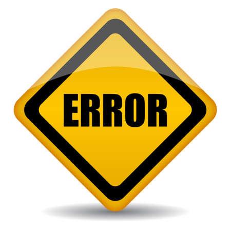 security token: error sign illustration