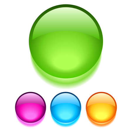 glass buttons Stock Vector - 14318374