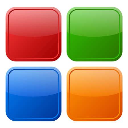 pushbutton: square buttons set illustration Illustration