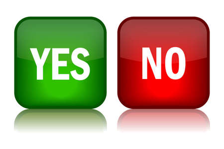 yes button: Yes and no buttons