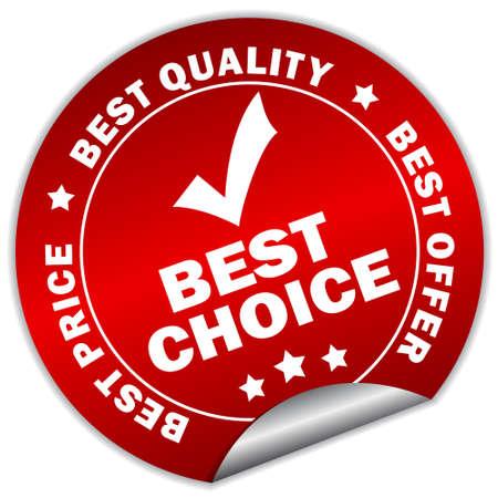 vendeurs: autocollant meilleur choix Illustration