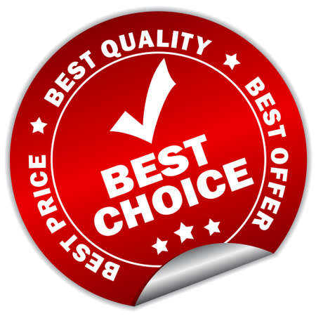 best choice sticker Vector