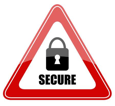 Illustration vectorielle signe sécurisé