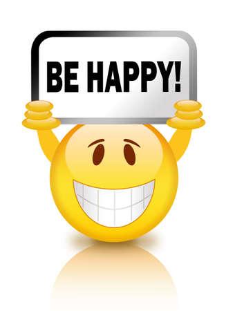 smiley content: Soyez heureux smiley Banque d'images